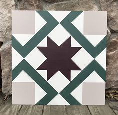 Barn Quilt // Wall Hanging // Wall Decor // Mantle // Barn Quilt with Star Barn Quilt Designs, Barn Quilt Patterns, Wood Patterns, Quilting Designs, Quilting Patterns, Quilting Projects, Barn Star Decor, Cool Stencils, Painted Barn Quilts