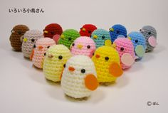 Cute little crochet birds