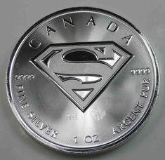Canada $5 Dollars 2016 Superman Silver 1 Oz [1614