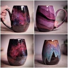 These galaxy-inspired ceramic mugs are out of this world Martha Ste . - These galaxy-inspired ceramic mugs are out of this world Martha Stewart - Ceramic Mugs, Ceramic Pottery, Ceramic Art, Ceramics Pottery Mugs, Porcelain Ceramic, Stoneware, Glazed Pottery, Ceramic Coffee Cups, Slab Pottery