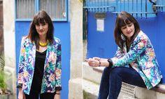 La veste imprimé fleurs Polynésia vu par Violaine Olga Madeleine