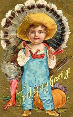 Thanksgiving Holiday Postcard 1908 NASH Series No 1 Child Dead Turkey 114 Thanksgiving Blessings, Thanksgiving Greetings, Vintage Thanksgiving, Vintage Fall, Vintage Holiday, Vintage Halloween, Thanksgiving Holiday, Creepy Vintage, Thanksgiving Recipes