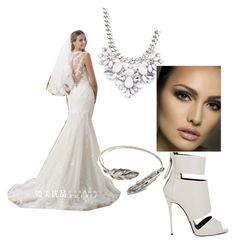 """wedding  ( i do )"" by mickey-pineda on Polyvore featuring Beautiful Wedding, Giuseppe Zanotti and Forever 21"
