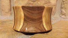 "6"" Black Walnut Cherry Sassafras Segmented Wood Bowl Hand Turned by Joshua Curry from TheLuffaBasket"