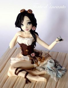 Isabella... steampunk doll - Cake by Torte d'incanto