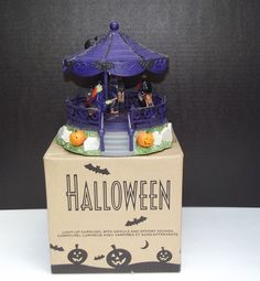 Halloween Light Up Carousel with Ghouls and Spooky Sounds by Avon