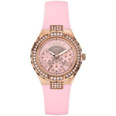 GUESS Women's Pink Silicone Strap Watch 37mm U0300L3