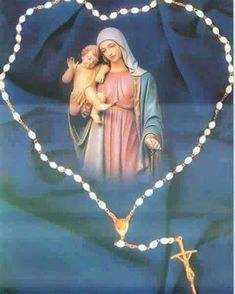 Religious Pictures, Jesus Pictures, Religious Art, Praying The Rosary, Holy Rosary, Blessed Mother Mary, Blessed Virgin Mary, I Love You Mother, Religion