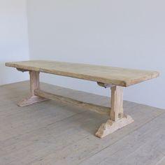 Single plank elm table