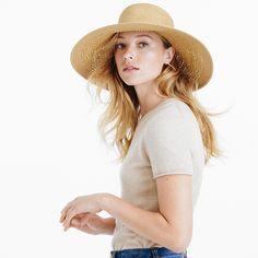 Textured summer straw hat from J.Crew