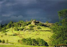 Chico, CA : Storm rolling into upper  Bidwell Park in Chico