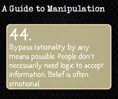 A Guide To Manipulation. This is interesting. One can probably construct a good villain using these 'guide to manipulation' notes. Guide To Manipulation, The Art Of Manipulation, Manipulation Quotes, Writing Help, Writing Tips, Writing Prompts, Persuasive Essays, Writing Resources, Essay Writing