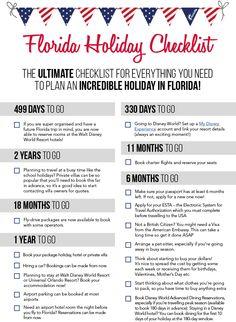 Florida Holiday Checklist