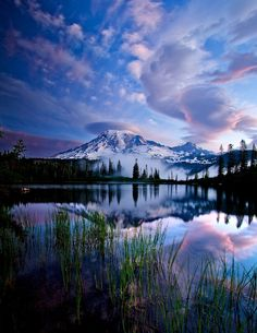 """Beautiful Places/ Rainier National Park, Washington """"In every walk with nature one receives far more than he seeks. All Nature, Amazing Nature, Beautiful World, Beautiful Places, Simply Beautiful, Beautiful Sky, Amazing Places, Absolutely Stunning, Pretty Sky"""