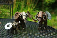Red Cedar Artists Scrap Metal Sculpture: