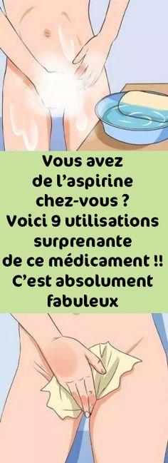 Vous avez de l'aspirine chez-vous ? Voici 9 utilisations surprenante de ce médicament !! C'est absolument fabuleux Sante Bio, Aloe Vera, Health Tips, Health Fitness, Stress, Medical, Voici, Healthy, Mille