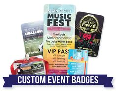 Print custom designed event badges at TicketPrinting.com