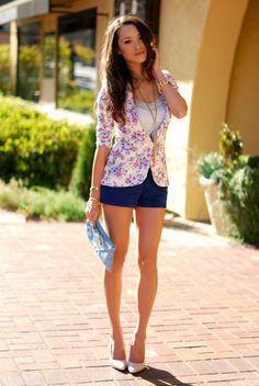 i love the floral jacket