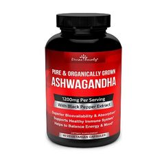 """NATURAL ANTI ANXIETY AND STRESS RELIEF – An ancient ayurvedic herb from India, Ashwagandha has long been sought for aiding in relaxation, natural calmness and alleviating mood swings and depression. Studies also show it may support anxiety relief, energy, lessen panic attacks, and help with weight loss and chronic fatigue. Many people also take it in pills, oil, tea, liquid, drink, drops or vegan forms. Common misspellings include aswagandha, ashvagandha, aswaganda."""