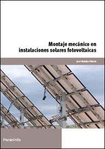 Portada del libro UF0152 - Montaje mecánico en instalaciones solares   fotovoltaicas