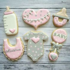 Welcome Drink, Welcome Baby, Sugar Cookies, Cupcake Cookies, Cupcakes, Fiesta Baby Shower, Baby Shower Cakes, Biscuits, Baby Girl Cookies