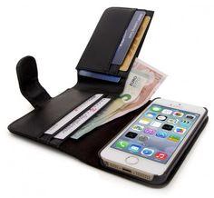 Exklusiv im Vertrieb von arktis.de: Mobiletto iPhone 5 / 5s Lederhülle mit Geldbörse