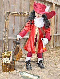 Captain hook pirate Halloween costume zorraindina •costume set includes: hat with attached wig, coat, shirt, pants and shoe covers $259