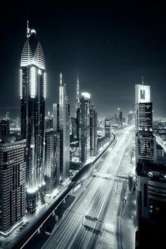 Zayed Road, Dubai | UAE (by Mark Hillen)