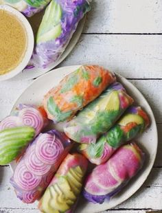 PSYCHEDELIC SUMMER ROLL [letscookvegan] [goi cuon, nem cuon, banh trang cuon, nime chao, nama harumaki, vietnamese spring roll, summer roll, salad roll, rice paper roll, fresh roll, crystal roll, soft roll]