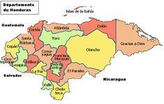 Mapa de Honduras.  Superficie de Honduras: 112.492 km²  Idioma: Español  Fronteras con: El Salvador, Guatemala, Nicaragua  Capital: Tegucigalpa  Sede del gobierno: Tegucigalpa