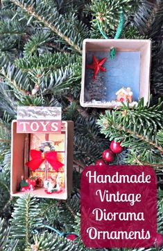 Create these adorable mini diorama ornaments with the kids this year plus 50 more great ideas for homemade ornaments!