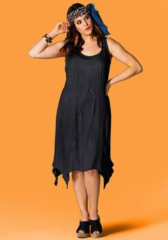 Typ , Kleid, |Material , Jersey, |Materialzusammensetzung , 100% Viskose, |Länge , knieumspielend, |Ausschnitt , Rundhalsausschnitt, |Ärmel , ärmellos, |Schnittdetails , asymmetrischer Zipfelform, |Optik , 2-in-1-Look, |Gesamtlänge , Oberkleid ca. 100 cm lang (ohne Zipfel), Unterkleid ca. 80 cm, | ...