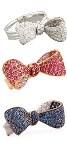 quenalbertini: Mimi So Bow Rings Bow Jewelry, Rose Gold Jewelry, Jewelery, Jewelry Accessories, Fashion Accessories, New Jewellery Design, Diamond Bows, Kawaii Jewelry, Ornaments Design