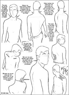 Over the Shoulder Tutorialby ~DerSketchie    some anatomically helpful tips in twisting the head and upper torso