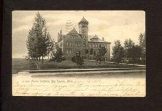 Ferris Institute Big Rapids Michigan Postcard 1906