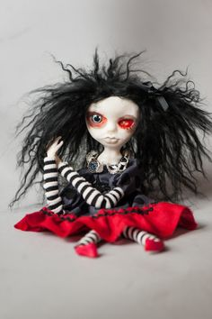 Creepy Gothic Art Doll Lotus by LotusAsylum on Etsy