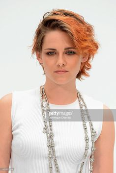 Kristen Stewart attends at Chanel show as part of Paris Fashion Week - Haute Couture Fall/Winter 2014-2015 at Grand Palais on July 8, 2014 in Paris, France.