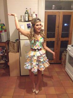 Halloween Monopoly costume DIY -- costume creativity