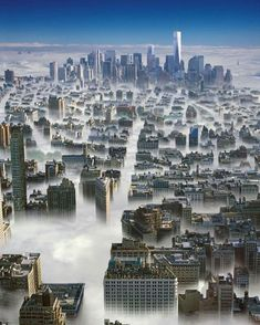 New York City in the clouds :-)