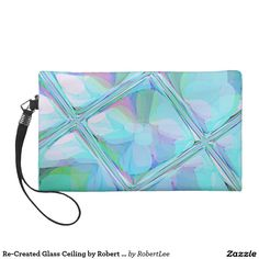 Re-Created Glass Ceiling by Robert S. Lee Wristlet#Robert #S. #Lee #art #graphic #design #colors #bag #wristlet #purse #ladies #girls #women #love #style #fashion #accessory #for #her #gift #want #need #love #customizable