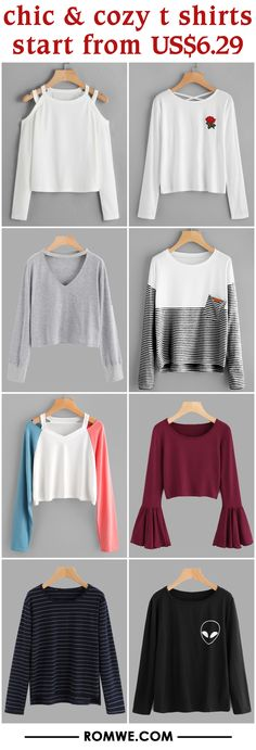 chic & cozy t shirts from US$6.29 - romwe.com