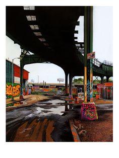 """Jessica Hess - """"Davis Street I"""" print"""