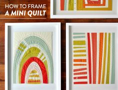 Modern Handmade Quilts Quilting Tips, Quilting Tutorials, Quilting Designs, Modern Quilting, Small Quilts, Mini Quilts, Quilt Display, Miniature Quilts, Doll Quilt