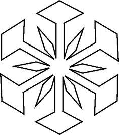Christmas Snowflakes Coloring Pages ... on Pinterest | Sno...