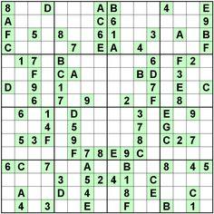 Number Logic Puzzles: 24364 - Sudoku size 16