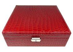 Šperkovnice čtverec velká červená 5500-5 | Bižuterie Kozák Jewellery Box, Jewelry, Decorative Boxes, Wallet, Jewelry Box Store, Jewellery Making, Pocket Wallet, Jewelery, Jewel Box