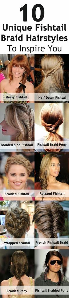 10 Unique Fishtail Braid Hairstyles To Inspire You...