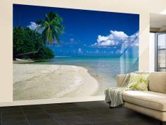Wall Mural Paper Peaceful Seychelles islands 3D Poster Print Tapestry Photo