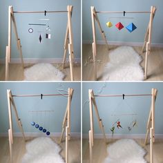 TUTO - Montessori mobiles for babies - In the heart of a mother - TUTO – Montessori mobiles for babies – In the heart of a mother TUTO – Montessori mobiles for - Mobile Montessori, Montessori Bedroom, Montessori Toys, Montessori Infant, Baby Play, Baby Toys, Mobiles, Diy Bebe, Baby Mobile