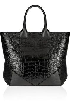 Womens Handbags : GIVENCHY Easy bag in black croc-embossed leather Chanel Handbags, Fashion Handbags, Tote Handbags, Purses And Handbags, Fashion Bags, Designer Handbags, Coach Handbags, Givenchy Bags, Tote Bags